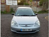 2003 Honda Civic 1.4 Imagine 5dr Manual @07445775115 Low+Mileage+Insurance+Tax+HPI+Alloys+Economical