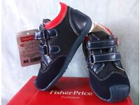 FISHER-PRICE: NEW KIDS/TODDLER NAVY BLUE LEATHER CASUAL/DRESS SHOES: SIZE 6