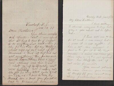 JK Tiffany / Wendell Tiffany 7 Items Correspondence 1878/1898