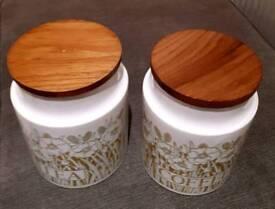 Hornsea Pottery Fleur Tea & Coffee Storage Jars