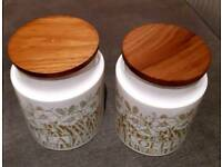 Hornsea Pottery Fleur Tea & Coffee Storage Jars