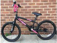 BMX Bike - ROOSTER Go Easy BMX Freestyler in Black/Pink - Designed for ages 8 years +