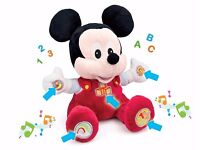 NEW in BOX - Disney BABY MICKEY - Soft Cuddly Toy 6 + months - TALKING & Sound & Light effects