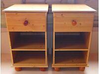 Pair of tall bedside cabinets - can deliver for free