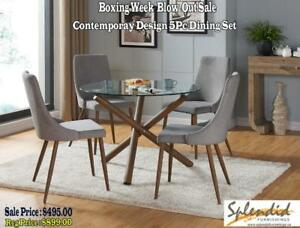 New Year Sale Mid Century, Modern Style 5 Pc Dining Set Blow Out