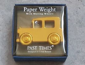 GOLD COLOURED CAR PAPERWEIGHT by Past Times