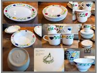 Dinner Service John Lewis - Italian Hand Decorated with Serving Dishes - Beautiful Dinner Party