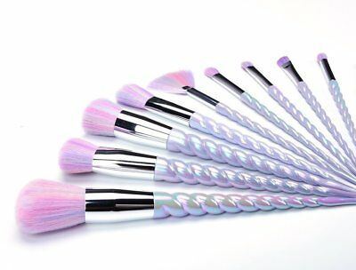 Unicorn Thread Make Up Brushes Set Face Concealer Foundation Powder Blusher UK