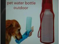 OUT DOOR PET DOG FOLDAWAY WATER BOTTLE