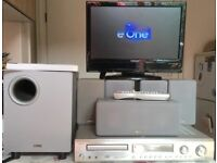 585 watts Denon ADV 1000 with SC50HTB speakers.. High end Home Cinema Theater Surround system