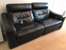DFS Dynamo 3 & 2 Seater Leather Sofas - Electric Recliner - Cinema Style