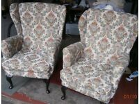 Two comfy armchairs in good condition (had only one owner)