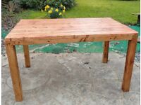 Made to Measure rustic driftwood furniture 3 x 3 ft dining table