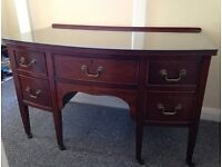 ANTIQUE BOW FRONTED DESK / DRESSING TABLE