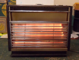 Three Bar Electric Fire Heater Free Standing Convector Vintage Belling Period Retro Type