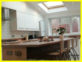 Modern, Equipped & Furnished 5 DoubleBed/ 3 Bath House to Rent- Tooting SW17 £166 per room per week
