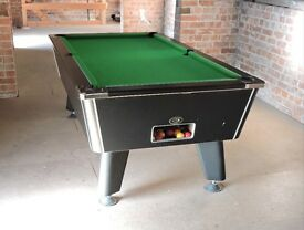 """""""Omega POOL TABLE Complete with cues, balls, etc. Excellent condition. """"Omega"""" are """"World class""""."""