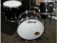 Ludwig - Vintage Classic Maple 3pc Drum kit, Black Sparkle.