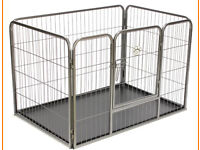 dog pen whelping pen. crate cage. large. 42 inch long base.
