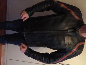 Harley Davidson leather motorcycle jacket (Large)