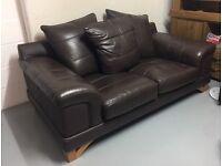 Chunky Italian Leather Sofa