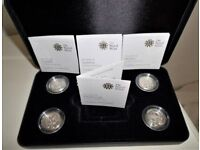 2010 & 2011 CAPITAL CITIES - VERY SOUGHT AFTER - FLAWLESS .925 SILVER PROOF PRESENTATION SET