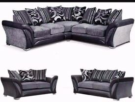 BRAND NEW LARGE CORNER SOFA AND 3 AND 2 SEATER // SAME DAY EXPRESS DELIVERY ALL OVER LONDON AND KENT