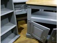 £160 FOR ALL 3 x heavy solid wood set-tv unit,display unit & console table/beauty table/hall table
