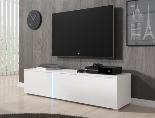 Meubella Saidi Tv Meubel Hoogglans Wit Met Led 151cm