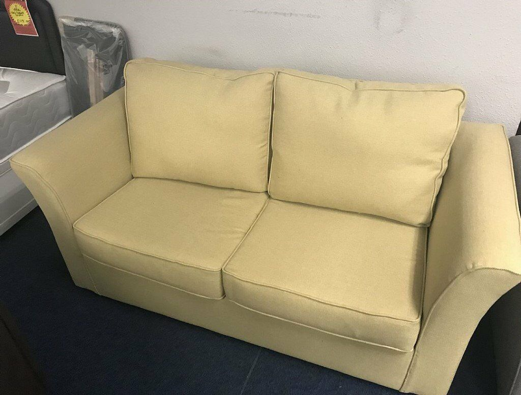 New Unused Very Good Quality Cream Fabric 2 Seater Sofa