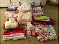 Clothes for baby girls 0-3 months and other items
