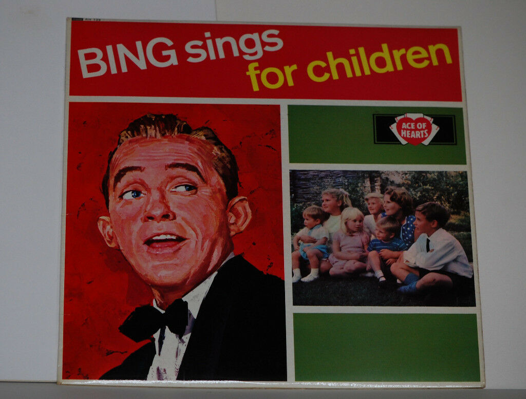 Bing Crosby Sings For Children Album. Record in good condition, album cover in not bad condition.