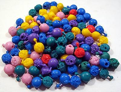 100 Old Monster Pop Beads 1980's Vending Machine Toys