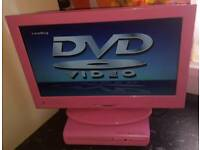 Pink tv and pink dvd player both with remotes £50