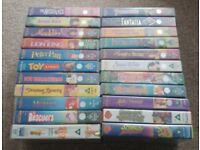 Classic Disney Movies VHS Tapes Cassette (24 Movies) - Job Lot
