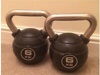 6 kg kettlebell / weight X 2