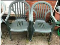 7 plastic garden chairs free to collect