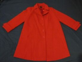 Ann Harvey Smart Red Coat Size 22 VGC
