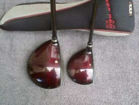 Wilson Deep Red 2 Driver & 3 Wood