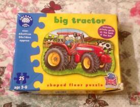 Orchard Toys Big Tractor Floor Puzzle. 25 Pieces. 62 x 41cm. Complete VGC.