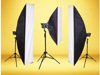 Photography studio softbox equipment