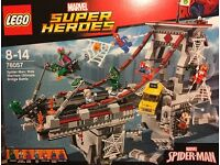 Brand new, sealed LEGO 76057 Spider-Man: Web Warriors Ultimate Bridge Battle