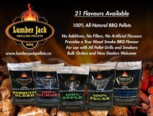 Lumber Jack BBQ Pellets for All Wood Pellet Grills & Smokers -- Over 20 varieties available!