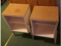 WOODEN BEDSIDE CABINETS, MATCHING