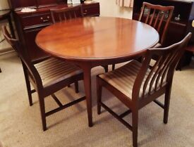 Extending Table and Four Chairs by Stag