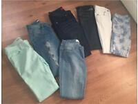 Ladies jean & jeggings bundle size 8 & 10