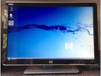 22 inch HP W2207H wide LCD TFT Flat screen Panel PC Computer Monitor for PC Apple Mac