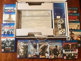 PS4 500gb for sale with 13 games