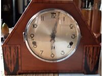 Art Deco 4 tone chiming mantle piece clock