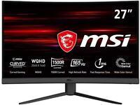 2x MSI G27CQ4 1440p 27 inch curved monitor - Like new